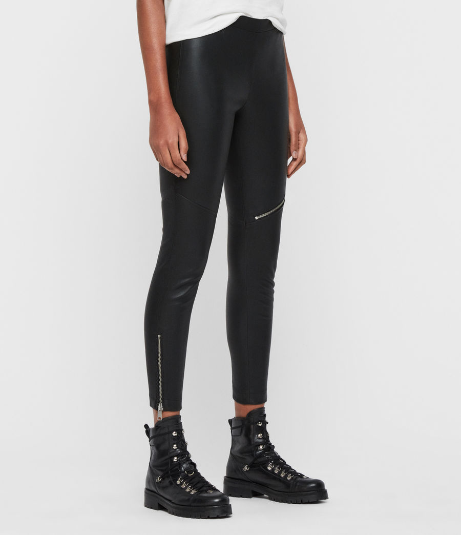 Womens Kriva Biker Leggings (black) - Image 3