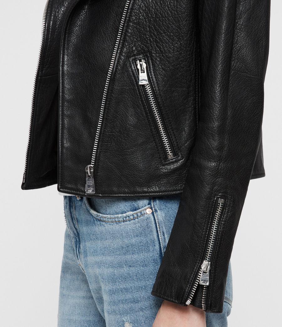 Womens Hadi Leather Biker (black) - Image 2