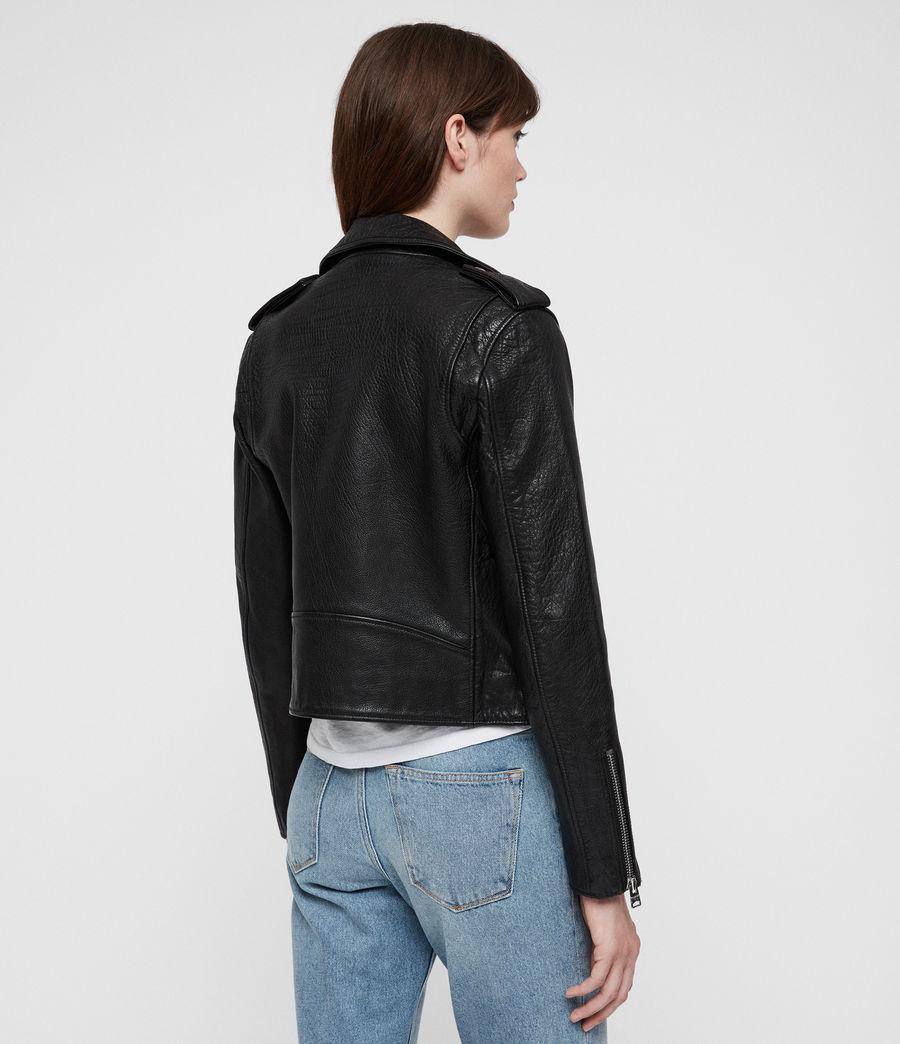 Womens Hadi Leather Biker (black) - Image 5