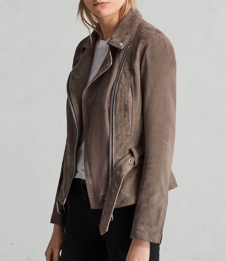 Womens Haworth Suede Biker Jacket (anthracite_smoke) - Image 5