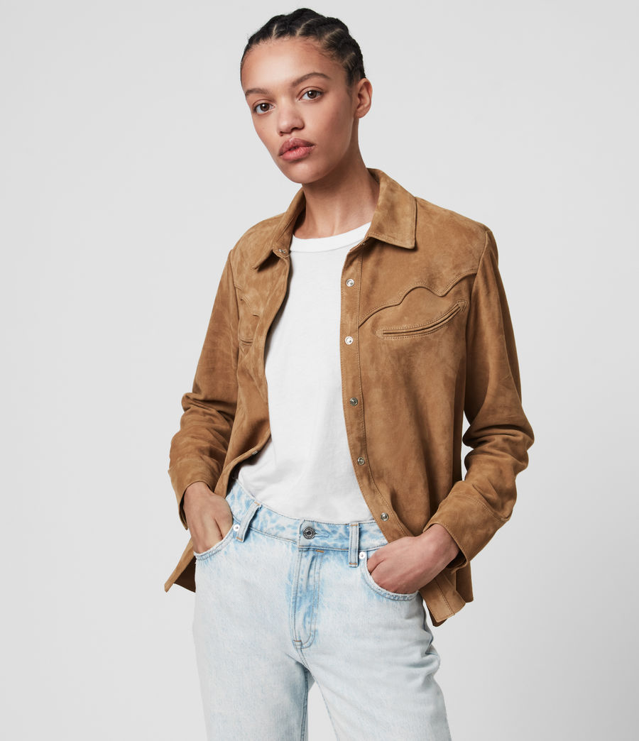 Mujer Camisa de Ante Oakley (tan_brown) - Image 1