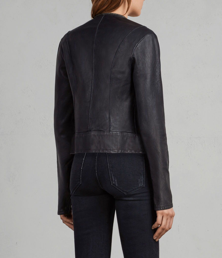 Women's Calle Leather Blazer (black) - Image 5
