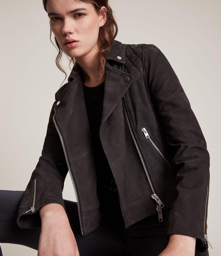Womens Caden Suede Biker Jacket (oxblood_brown) - Image 2