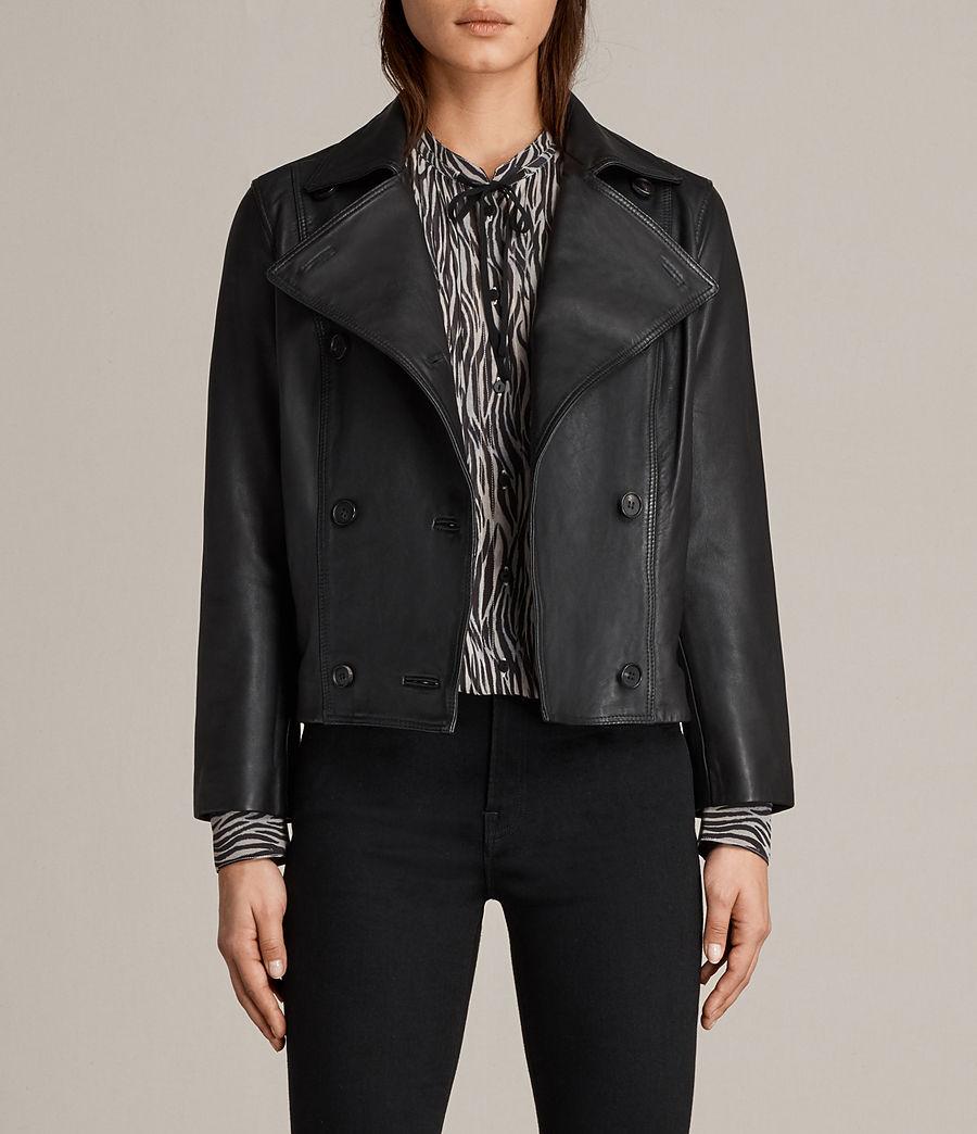 Womens Deebee Leather Blazer (black) - Image 1