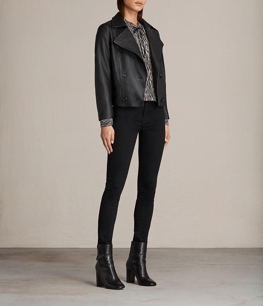 Womens Deebee Leather Blazer (black) - Image 3