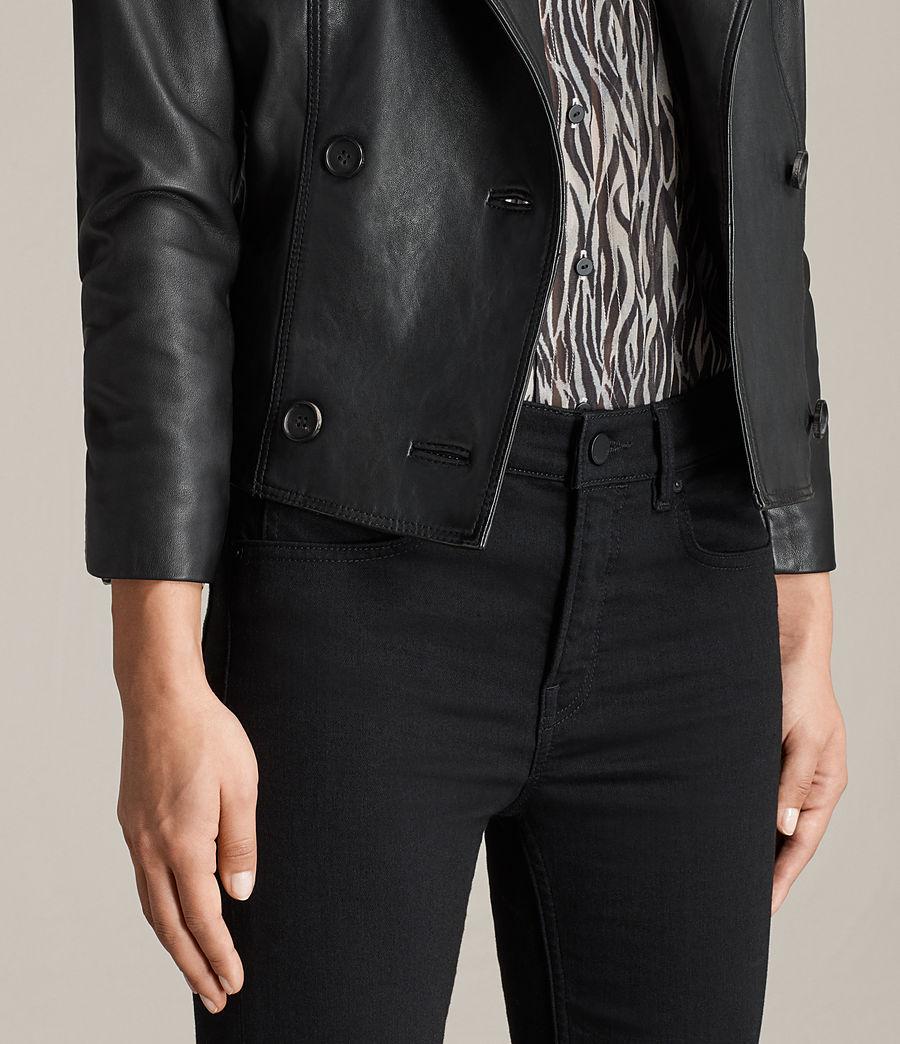 Womens Deebee Leather Blazer (black) - Image 4