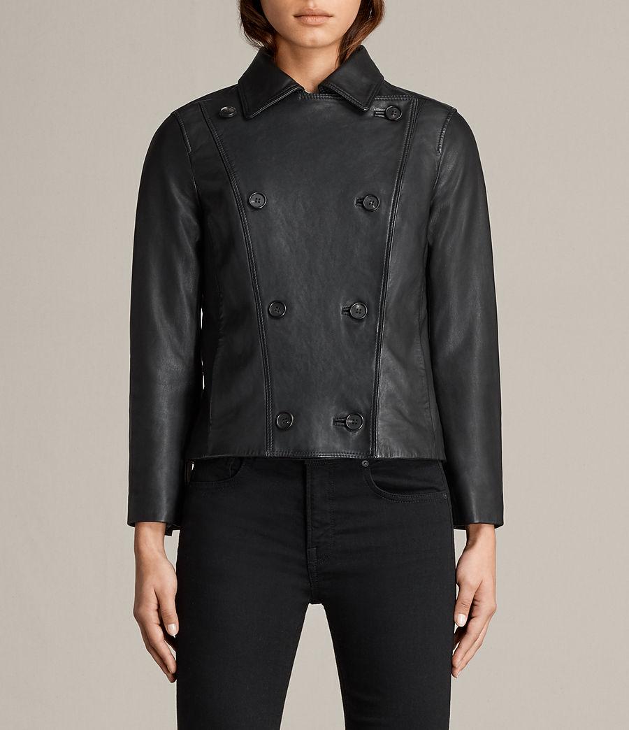 Womens Deebee Leather Blazer (black) - Image 5
