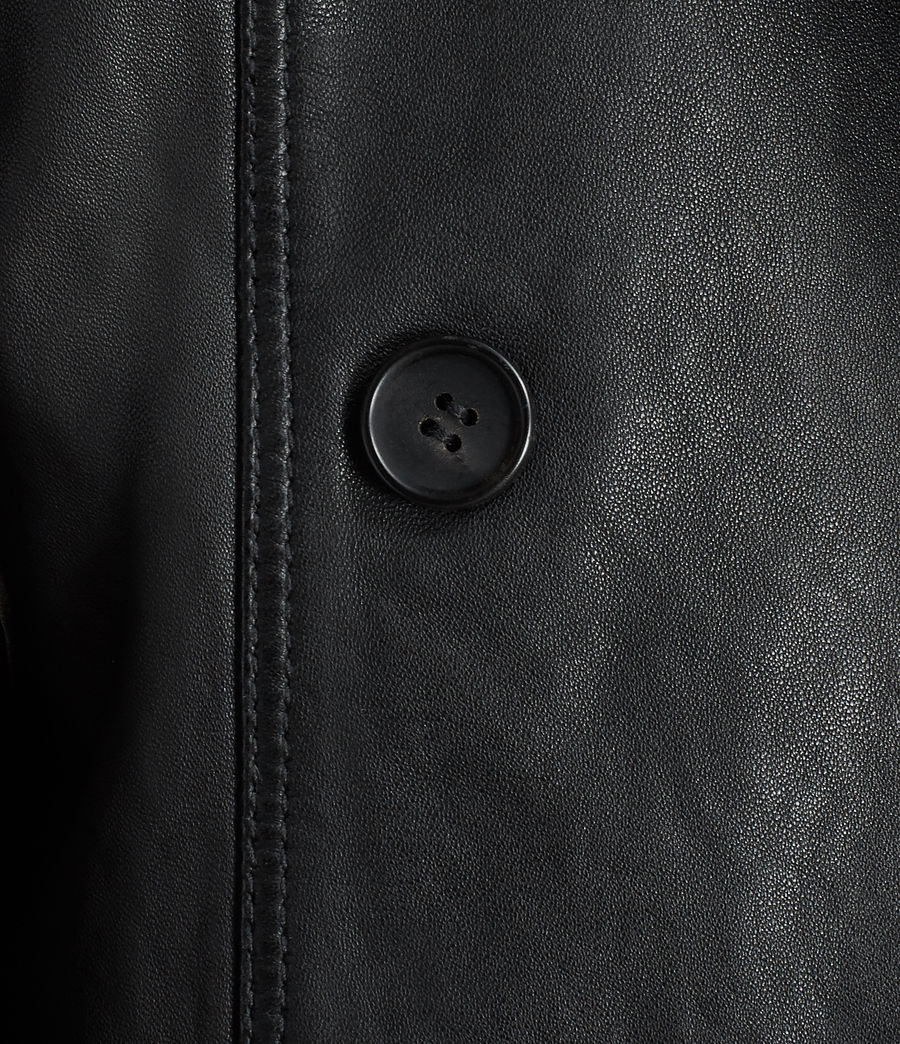 Womens Deebee Leather Blazer (black) - Image 7