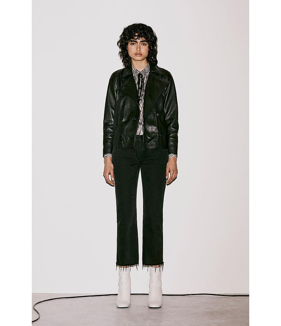 Womens Deebee Leather Blazer (black) - Image 9