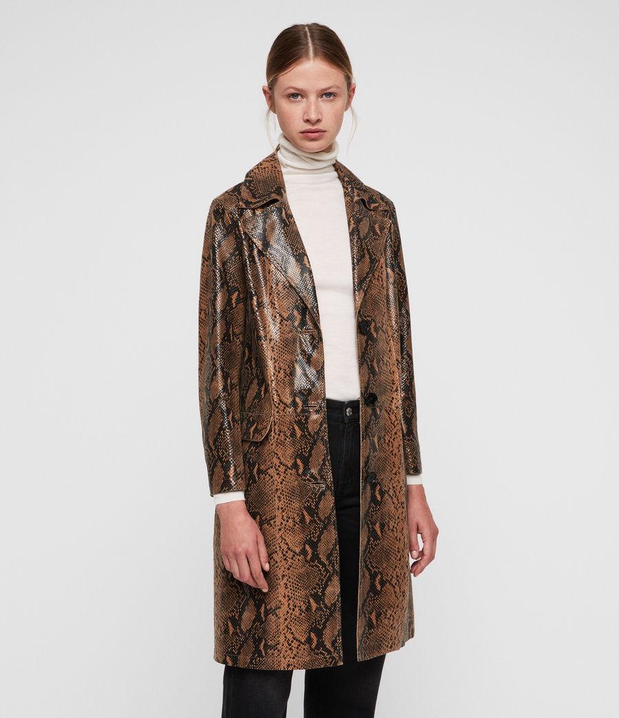 Mujer Oba Leather Mac (snake) - Image 1