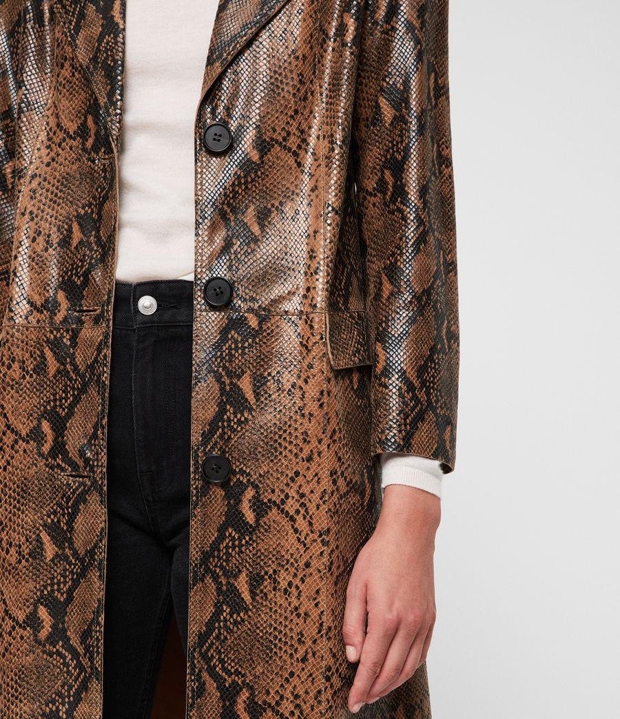 Womens Oba Leather Mac (snake) - Image 2