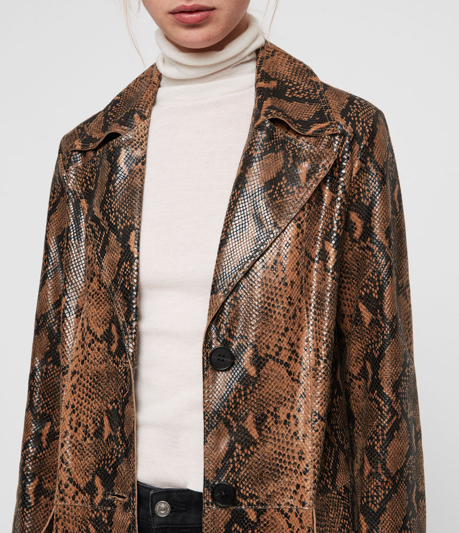 Womens Oba Leather Mac (snake) - Image 3