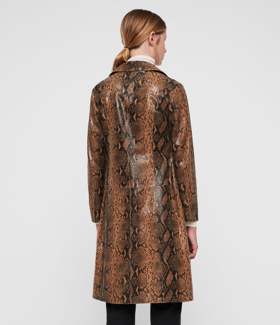 Women's Oba Leather Mac (snake) - Image 4