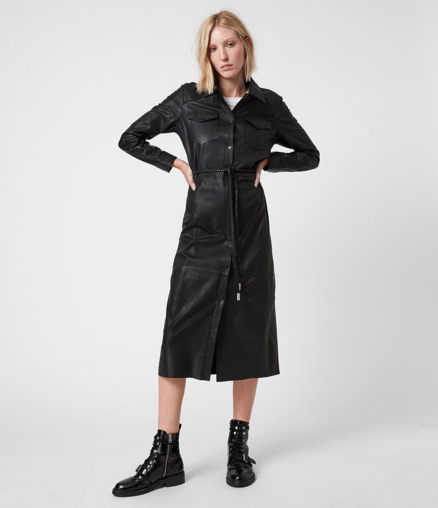 Women's Lambert Leather Dress (black) - Image 1