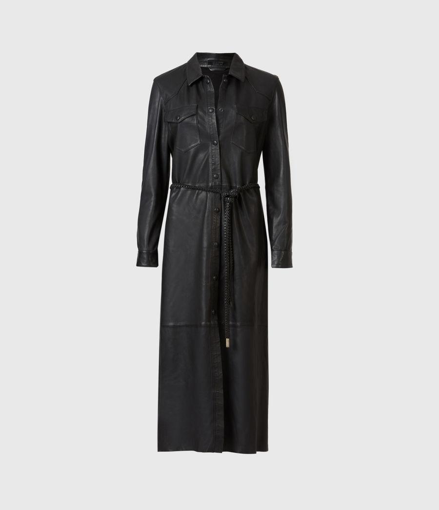 Women's Lambert Leather Dress (black) - Image 2