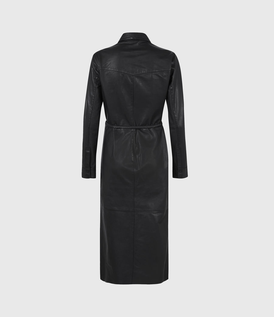 Women's Lambert Leather Dress (black) - Image 3