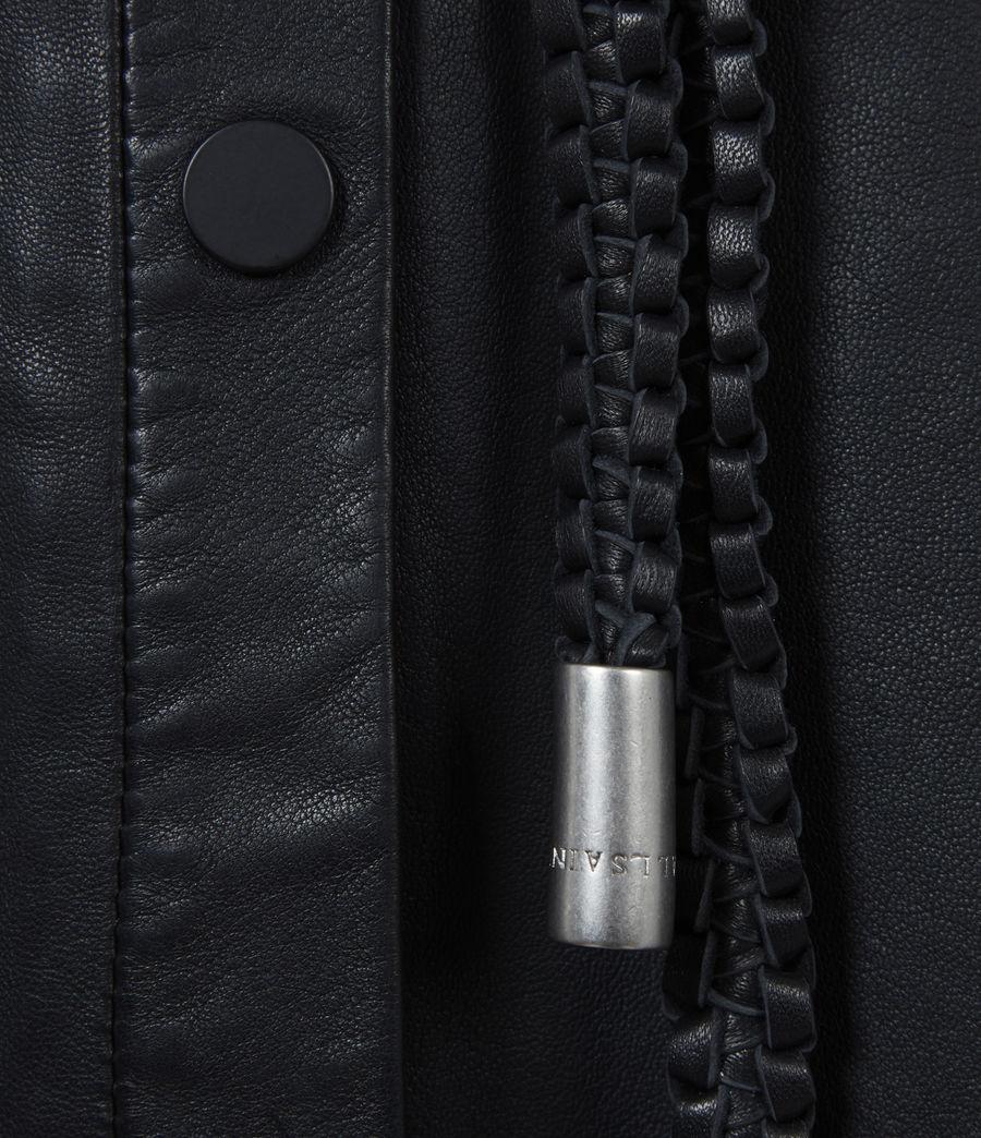 Women's Lambert Leather Dress (black) - Image 5
