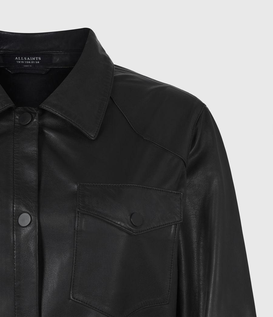 Women's Lambert Leather Dress (black) - Image 6