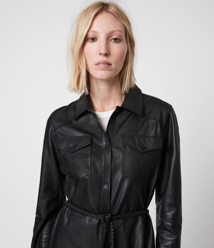 Women's Lambert Leather Dress (black) - Image 8