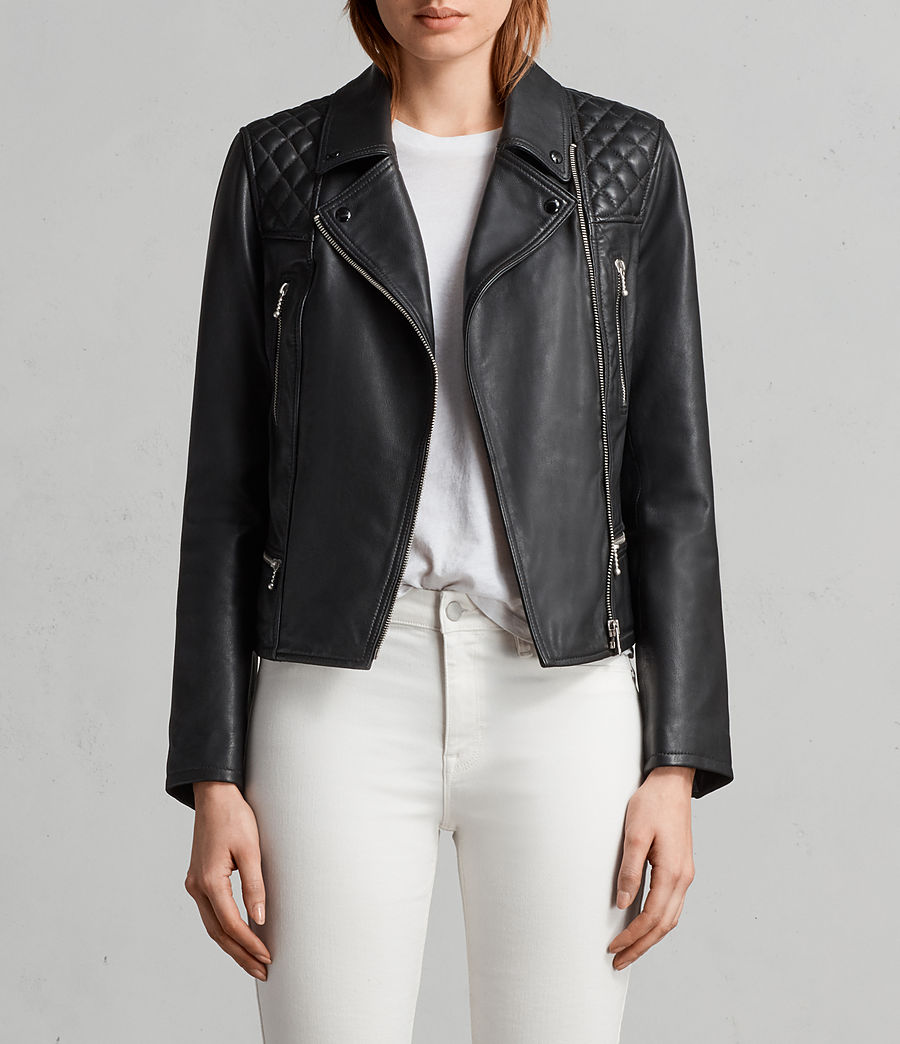 Kelham Leather Biker Jacket by Allsaints