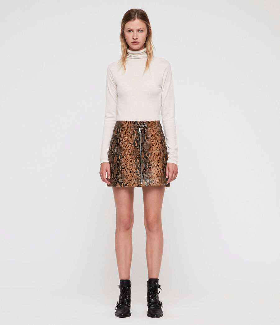 Women's Lena Oba Leather Skirt (snake) - Image 1