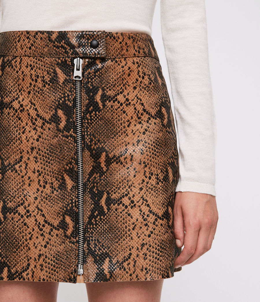 Women's Lena Oba Leather Skirt (snake) - Image 2
