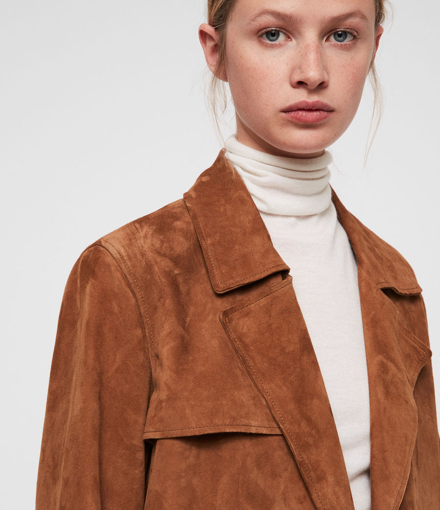 Donne Ember Trench Coat (cognac_brown) - Image 2