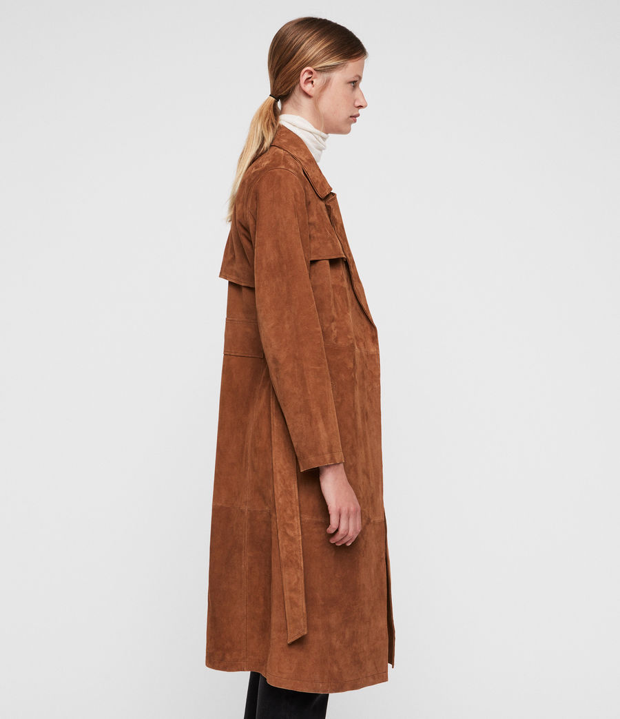 Donne Ember Trench Coat (cognac_brown) - Image 3