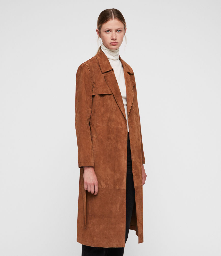Donne Ember Trench Coat (cognac_brown) - Image 4