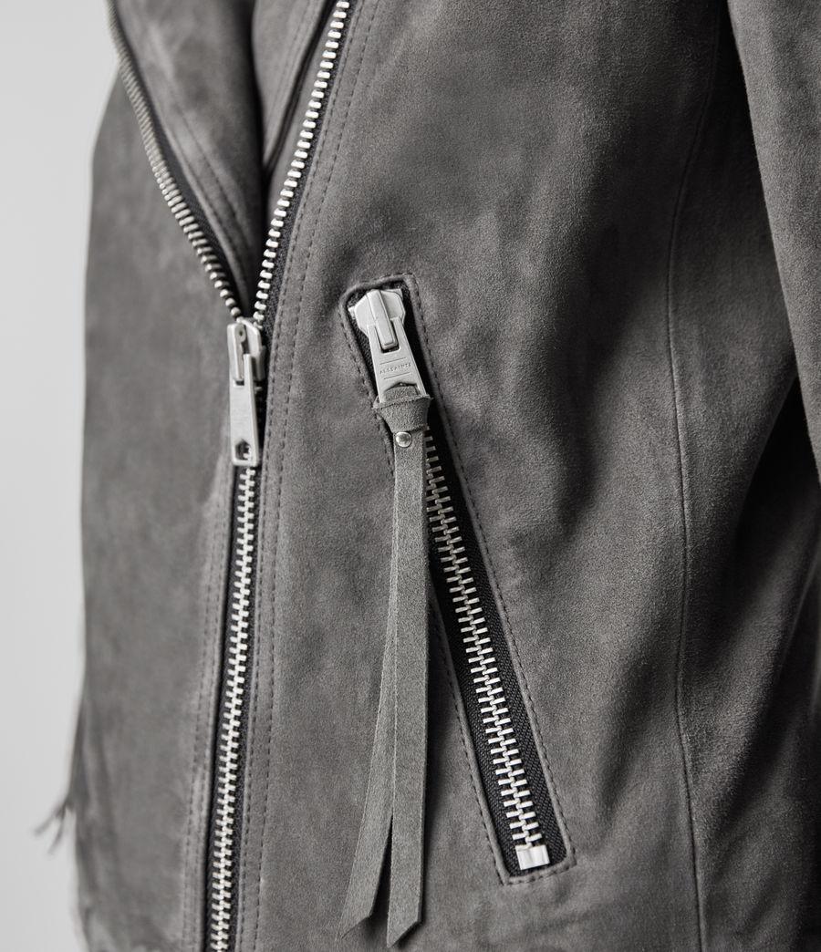 Womens Suede Dalby Biker Jacket (sage_green) - Image 6