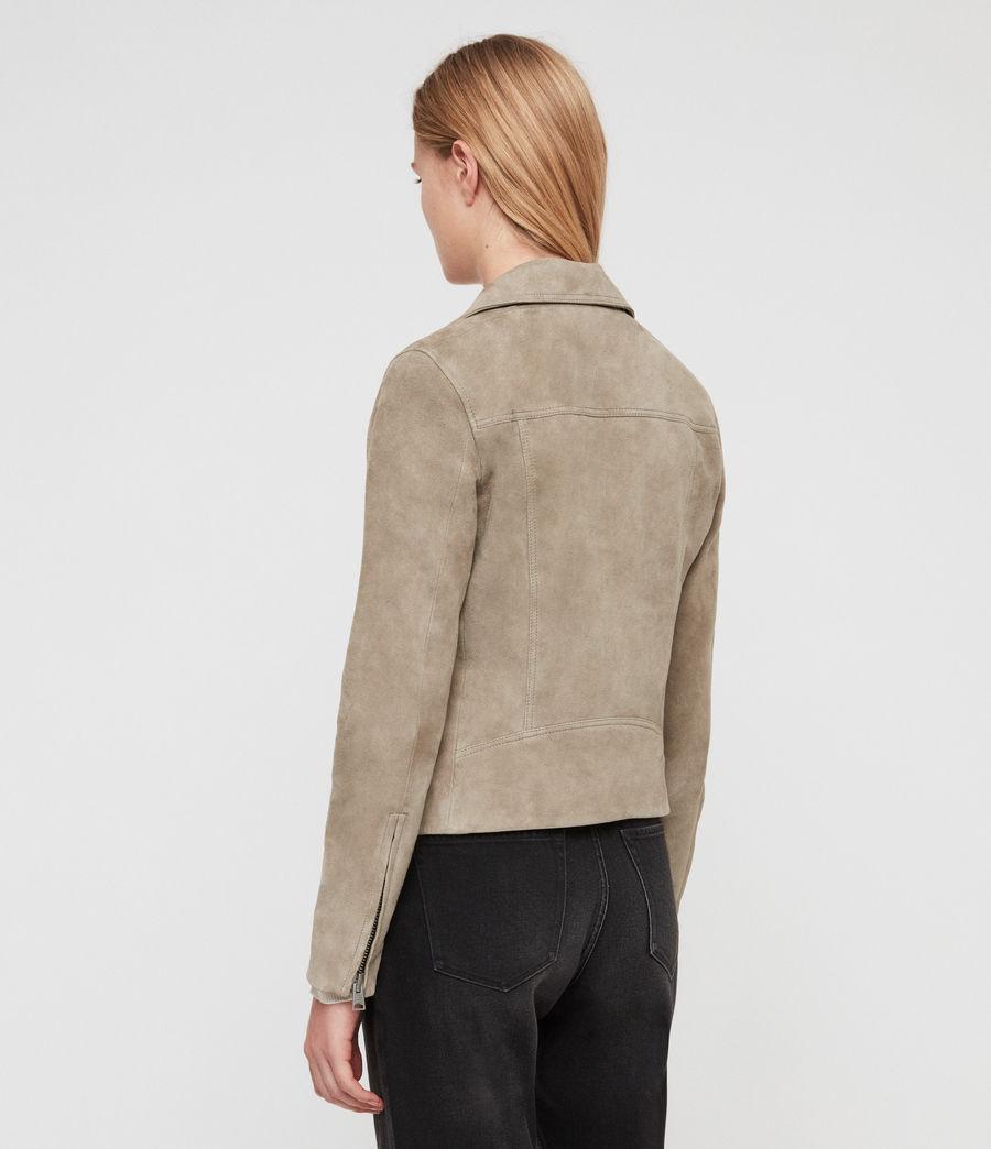 Women's Suede Dalby Biker Jacket (sage_green) - Image 5