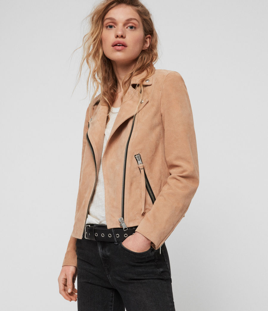 Womens Suede Dalby Biker (honey_brown) - Image 1