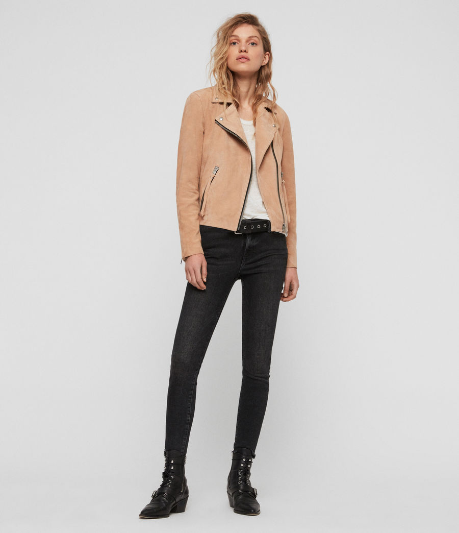 Womens Suede Dalby Biker (honey_brown) - Image 3