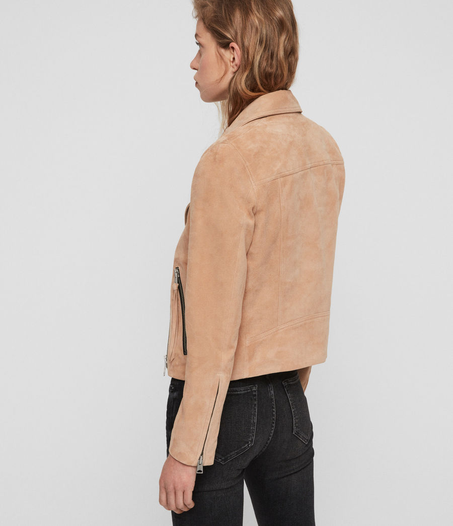 Womens Suede Dalby Biker (honey_brown) - Image 5