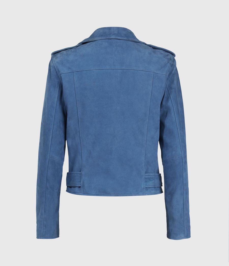 Damen Suede Balfern Biker Jacket (cobalt_blue) - Image 3