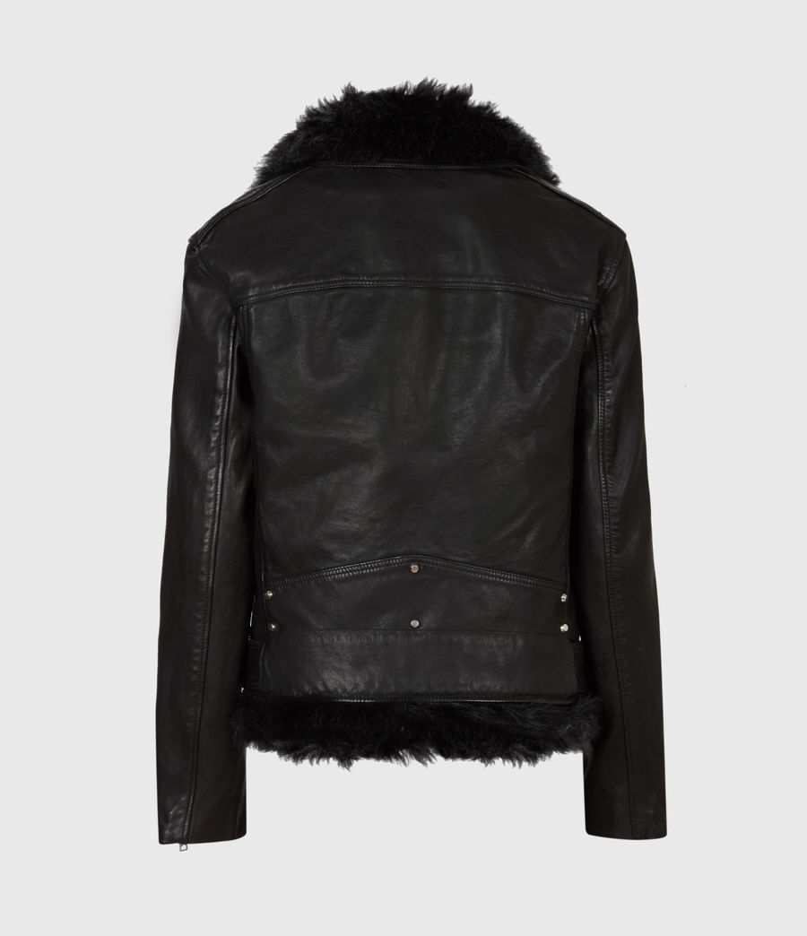Women's Luna 4-In-1 Shearling Biker Jacket (black_black) - Image 5