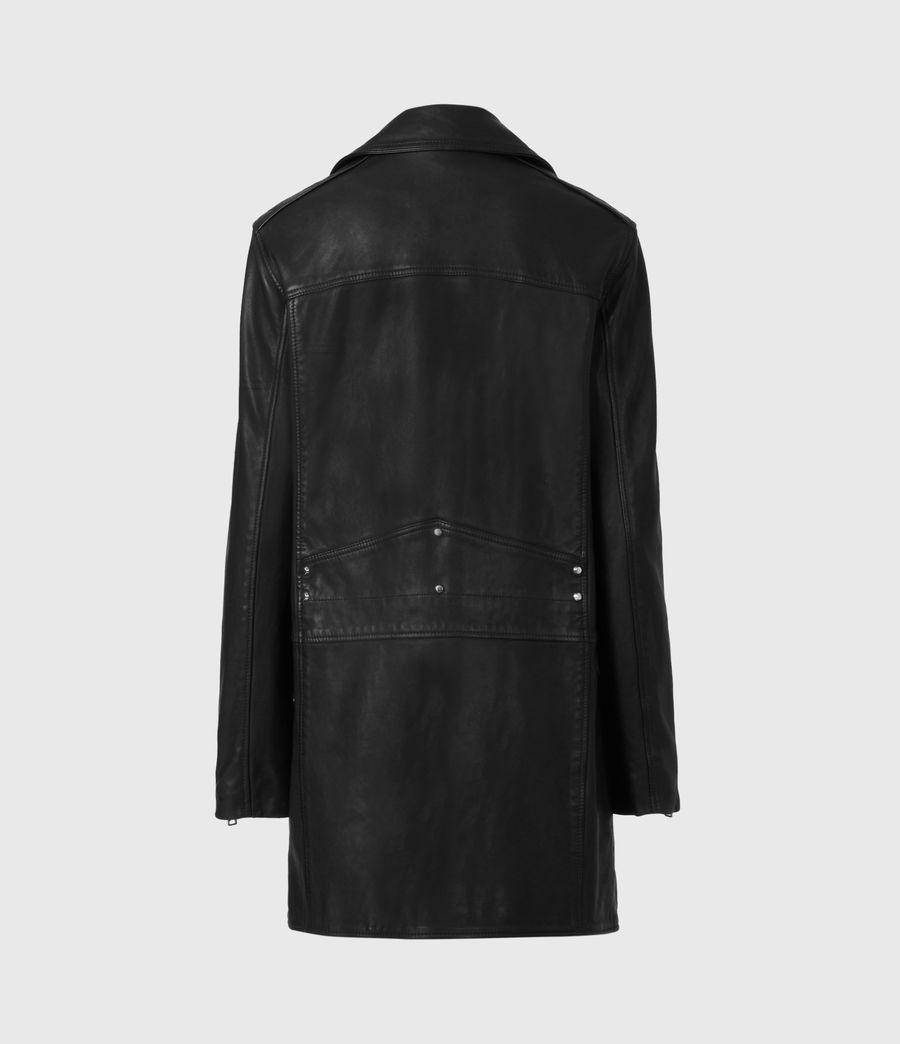 Women's Luna Leather Biker Mac (black) - Image 3