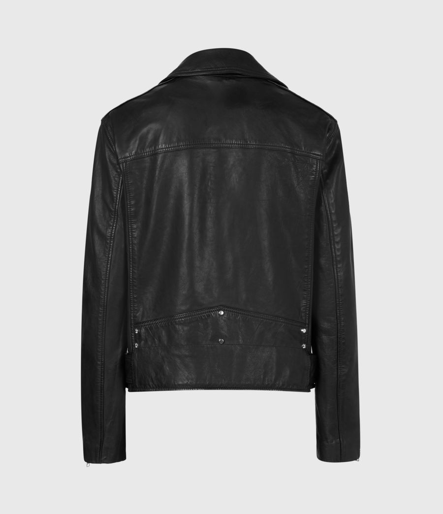 Mujer Luna Leather Biker Jacket (black) - Image 3