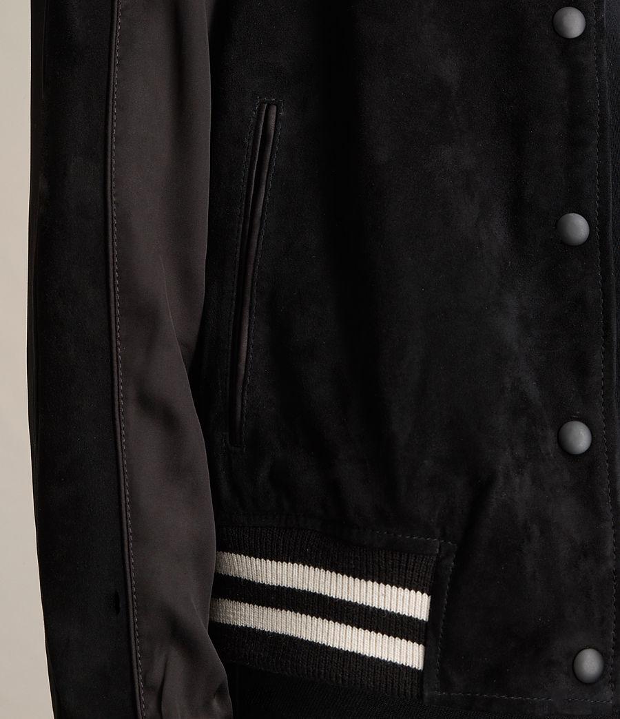Femmes Bomber Gresley en cuir velours (black) - Image 5