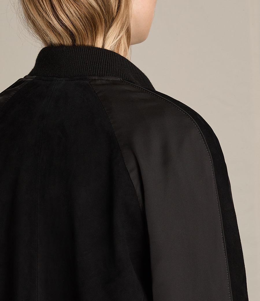 Damen Gresley Bomberjacke aus Wildleder (black) - Image 7