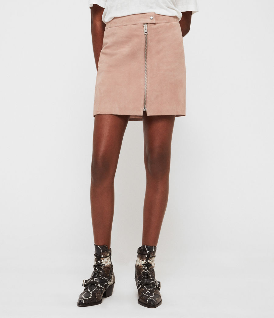 Women's Lena Suede Skirt (putty_pink) - Image 2