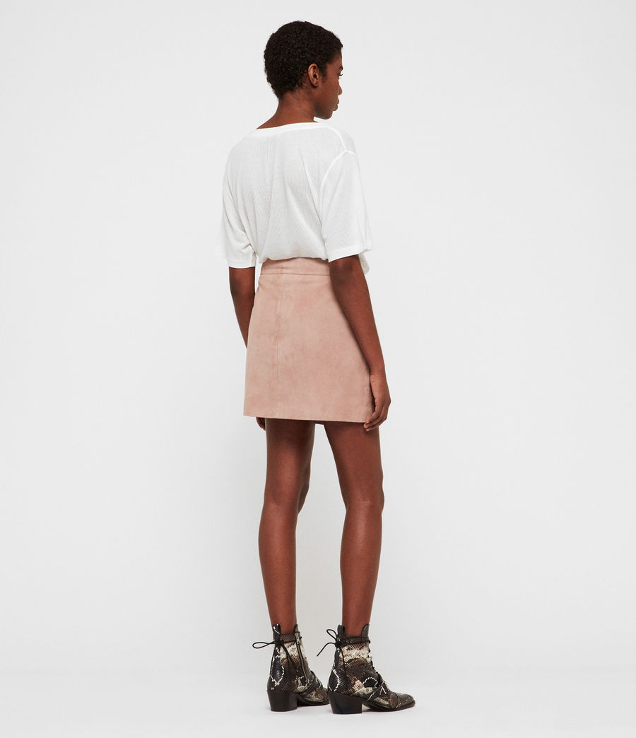 Women's Lena Suede Skirt (putty_pink) - Image 5