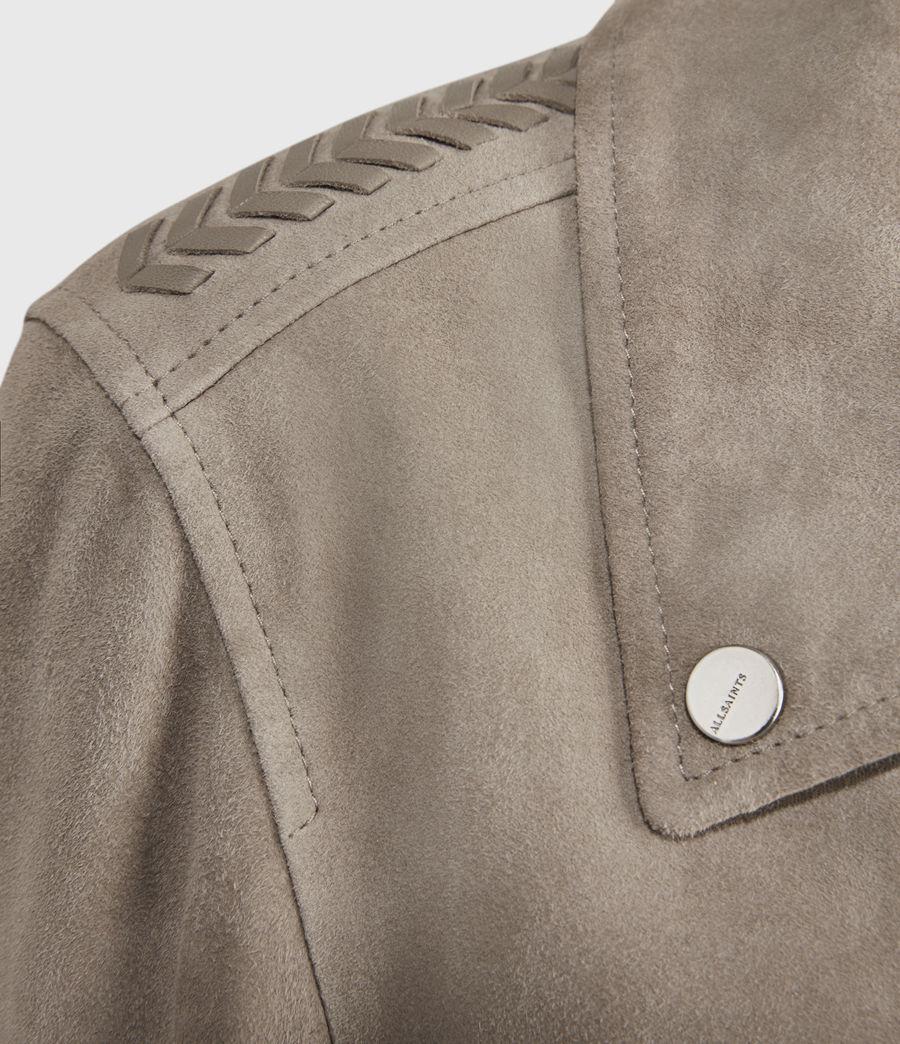 Women's Rosen Suede Biker Jacket (taupe_brown) - Image 3