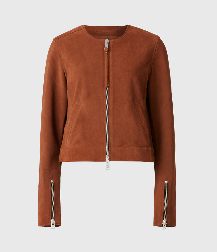 Women's Aster Suede Jacket (tan_brown) - Image 2