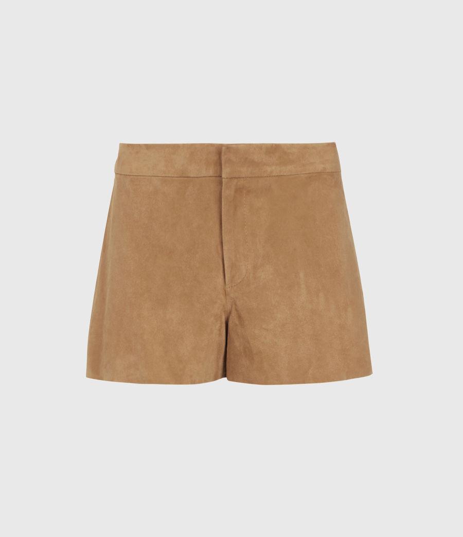 Women's Calix Low-Rise Suede Shorts (tan_brown) - Image 1