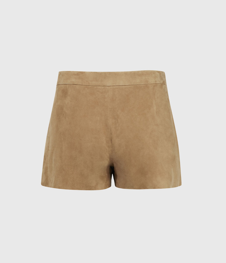 Women's Calix Low-Rise Suede Shorts (tan_brown) - Image 2