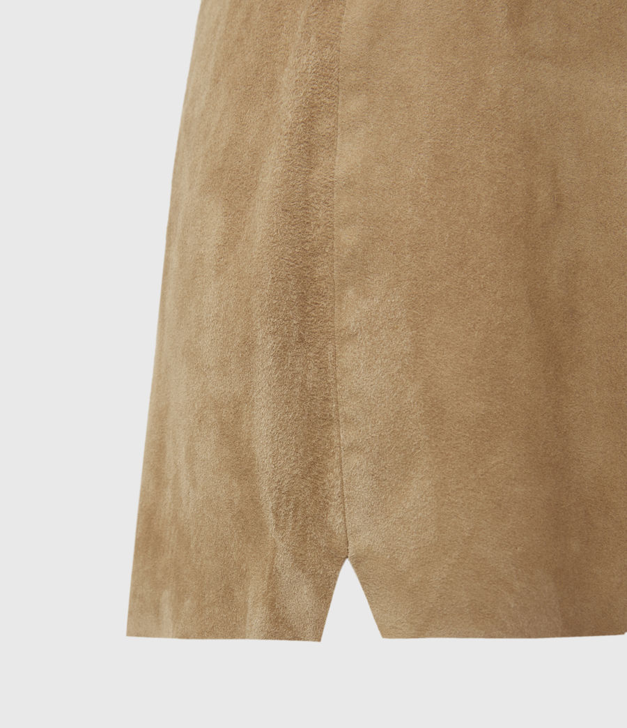Women's Calix Low-Rise Suede Shorts (tan_brown) - Image 4