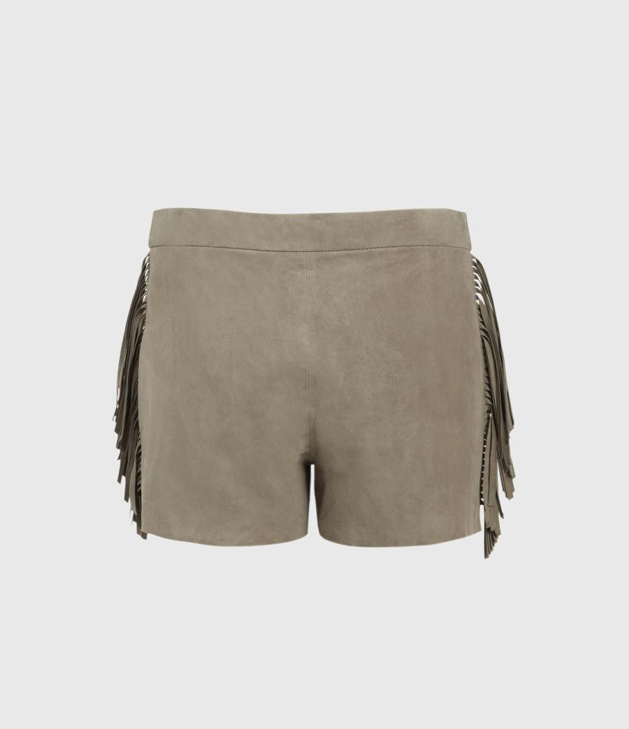 Mujer Shorts de Piel con Flecos Calix (taupe_brown) - Image 2