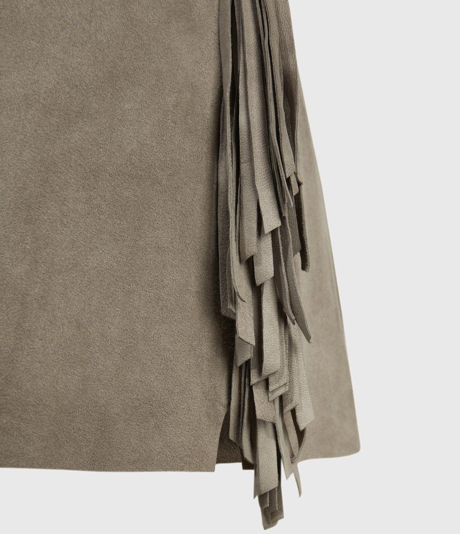 Mujer Shorts de Piel con Flecos Calix (taupe_brown) - Image 3