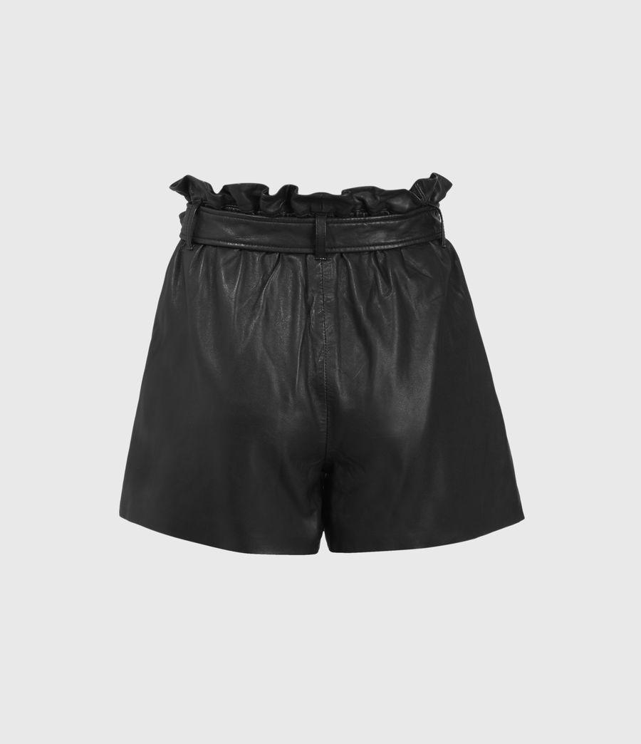 Womens Erica Leather Shorts (black) - Image 2